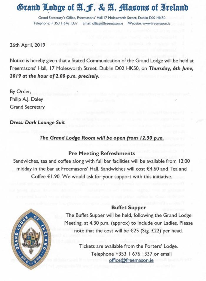 Grand Lodge June 6